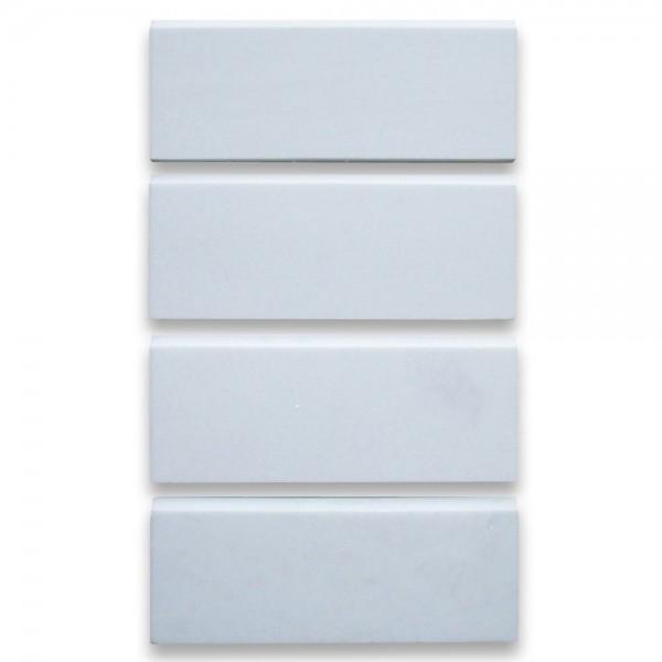 Thassos White Marble Baseboard Trim Molding 5x12 Polished
