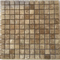 1x1 Light Emperador Polished Marble Mosaic