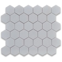Thassos White  Marble Hexagon polished Mosaic 2 inch