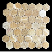 Honey Onyx 2 inch Hexagon Polished Mosaic