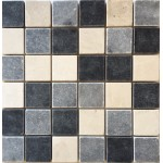 2x2 Mix Tumbled Marble Mosaic