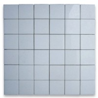 2x2 Thassos White Honed Marble Mosaic