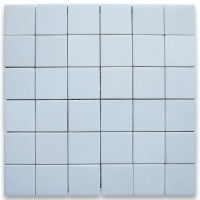 2x2 Thassos White Polished Marble Mosaic