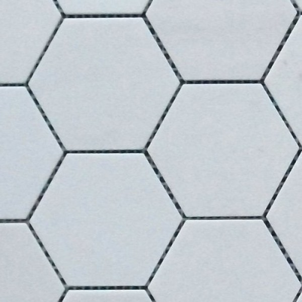Thassos white marble hexagon honed mosaic 3 inch for 3 inch hexagon template