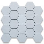 Thassos White  Marble Hexagon Polished Mosaic 3 inch