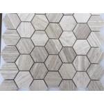 Haisa Light 2 inch Hexagon Honed Limestone Mosaic