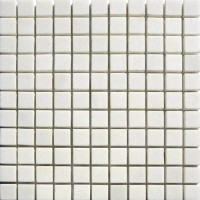 1x1 Thassos White Honed Marble Mosaic