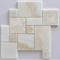 White Onyx Mini-Opus Pattern Mosaic