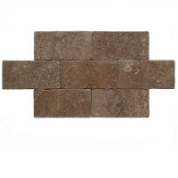 6x12 Noce Tumbled Travertine Paver