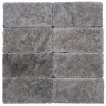 3x6 Silver Tumbled Travertine Tile