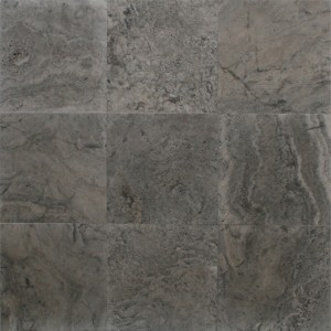 12x12 Silver Honed and Filled Travertine Tile