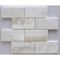 3x6 White Onyx Polished Tile
