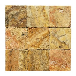 4x4 Scabos Tumbled Travertine Tiles