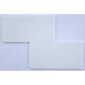 6x12 Thassos White Honed Marble Tile