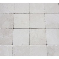 4x4 Botticino Tumbled Marble Tile