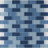 1x2 Glossy Blue Mix Glass Mosaic