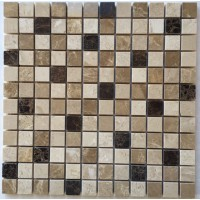 1x1 Spanish Blend Polished Marble Mosaic