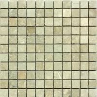 1x1 Seagrass Tumbled Limestone Mosaic