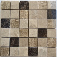 2x2 Spanish Blend Polished Marble Mosaic