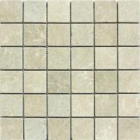 2x2 Seagrass Tumbled Limestone Mosaic