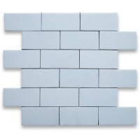 2x4 Thassos White Honed Marble Mosaic
