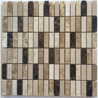 5/8x2 Spanish Blend Polished Marble Mosaic