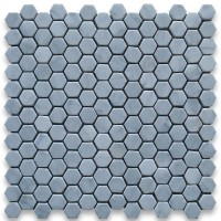 Carrara White Marble Hexagon Tumbled Mosaic 1 inch