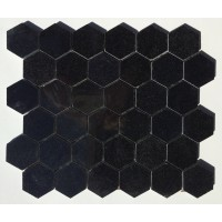 Black Absolute Hexagon Polished Mosaic 2 inch