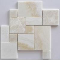 White Onyx Mini-Opus Pattern Mosaic