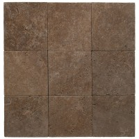 6x6 Noce Tumbled Travertine Paver