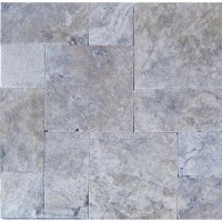 Silver Tumbled French Pattern Paver
