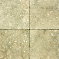 6x6 Seagrass Tumbled Limestone Tile