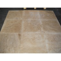 18x18 Wooden Travertine Honed and Filled Tiles